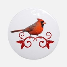 Beautiful Cardinal Ornament (Round)