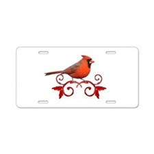 Beautiful Cardinal Aluminum License Plate