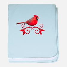 Beautiful Cardinal baby blanket