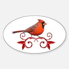 Beautiful Cardinal Sticker (Oval)