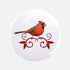 """Beautiful Cardinal 3.5"""" Button"""