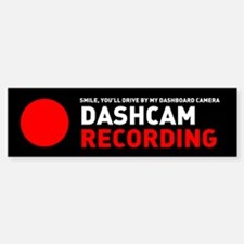 Dashcam Recording Bumper Bumper Bumper Sticker