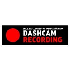 Dashcam Recording Bumper Bumper Sticker