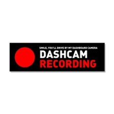 Dashcam Recording Car Magnet 10 x 3