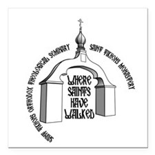 """Where Saints Have Walked Arch Square Car Magnet 3"""""""