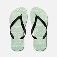 Cool Techno Text Flip Flops