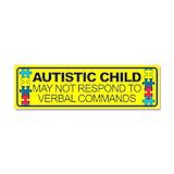 "Autism stickers 3"" x 10"""