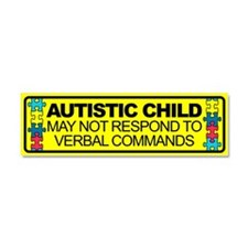 Cute Autism safety Car Magnet 10 x 3