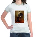 Lincoln & his Cavalier (BT) Jr. Ringer T-Shirt
