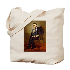 Lincoln & his Cavalier (BT) Tote Bag