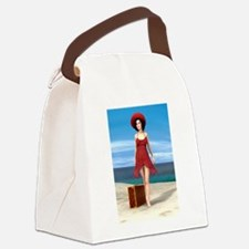 Vintage Vacation Canvas Lunch Bag