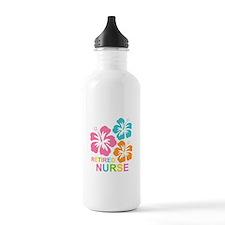 Hibiscus Retired Nurse Water Bottle