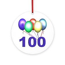 100 Ornament (Round)