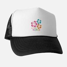 Hibiscus Retired Nurse Trucker Hat