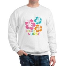 Hibiscus Retired Nurse Sweatshirt