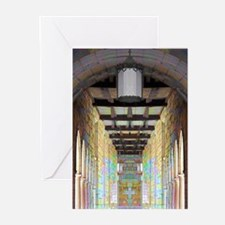 Corridor of Pillars Greeting Cards