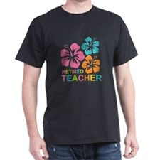 Hibiscus Retired Teacher T-Shirt