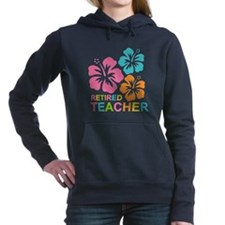Hibiscus Retired Teacher Hooded Sweatshirt