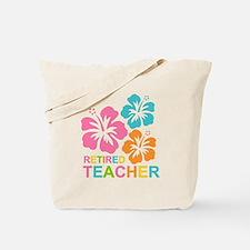 Hibiscus Retired Teacher Tote Bag