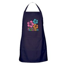Hibiscus Retired Teacher Apron (dark)
