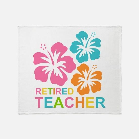 Hibiscus Retired Teacher Throw Blanket