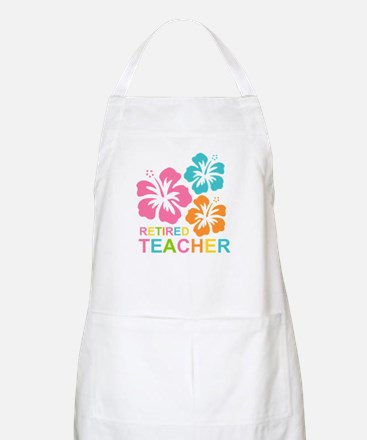 Hibiscus Retired Teacher Apron