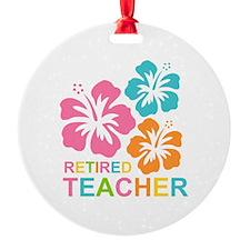 Hibiscus Retired Teacher Ornament
