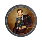 Lincoln & his Cavalier (BT) Wall Clock
