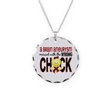 Brain Aneurysm Wrong Chick 1 Necklace