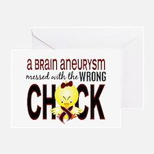 Brain Aneurysm Wrong Chick 1 Greeting Card