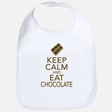 Keep Calm and Eat chocolate Bib