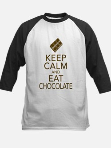 Keep Calm and Eat chocolate Baseball Jersey