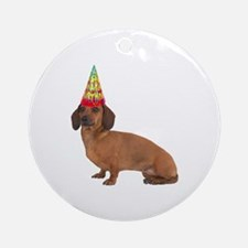 Smooth Red Dachshund Ornament (Round)