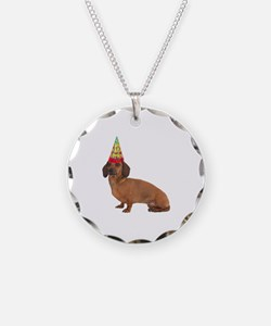 Smooth Red Dachshund Necklace