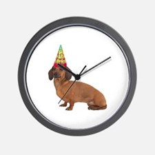 Smooth Red Dachshund Wall Clock
