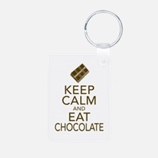 Keep Calm and Eat chocolate Keychains