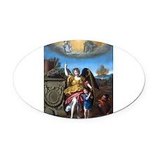 Domenichino - Guardian Angel - 1615 Oval Car Magne