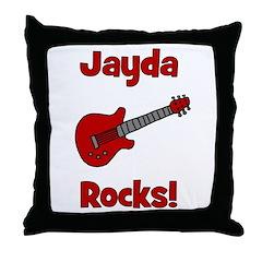 Guitar - Jayda Rocks! Throw Pillow