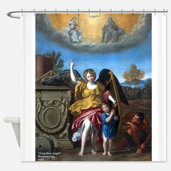 Domenichino - Guardian Angel - 1615 Shower Curtain