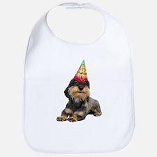 Wirehaired Dachshund Birthday Bib