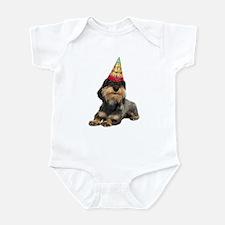 Wirehaired Dachshund Birthday Infant Bodysuit