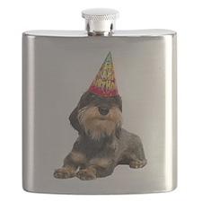 Wirehaired Dachshund Birthday Flask