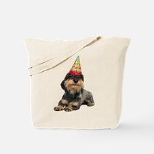 Wirehaired Dachshund Birthday Tote Bag