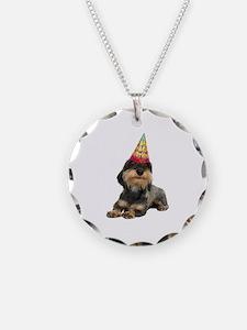 Wirehaired Dachshund Birthda Necklace