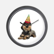 Wirehaired Dachshund Birthday Wall Clock
