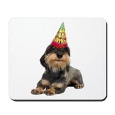 Wirehaired Dachshund Birthday Mousepad