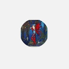 Crimson Wings by Fantasy art Illustrat Mini Button