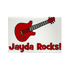 Guitar - Jayda Rocks! Rectangle Magnet