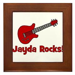 Guitar - Jayda Rocks! Framed Tile