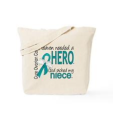 Ovarian Cancer Heaven Needed Hero 1.1 Tote Bag